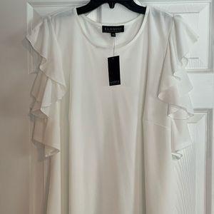 Eloquii plus size white stretch blouse